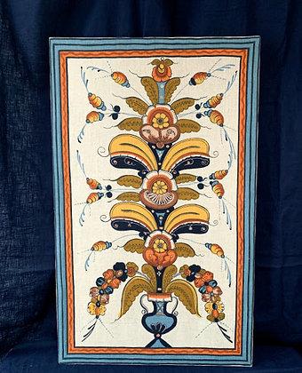Vintage Textile Stretched On Frame