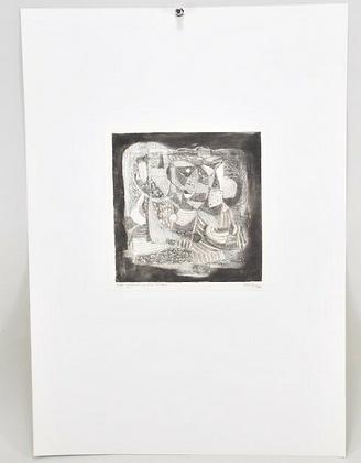 Etching 1/5, signed. Gustav Grund