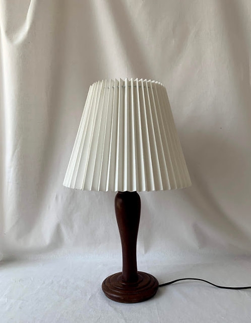 Early 20th Century Wooden Lamp
