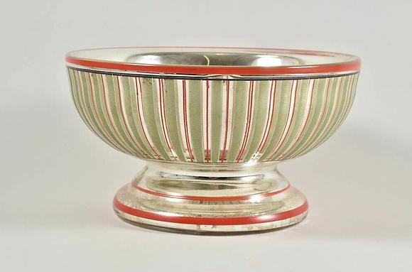 Late 19th Century Mercury Glass Bowl