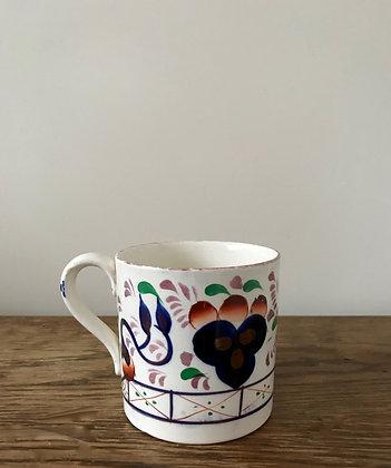 Antique Gaudy Welsh Cider Mug