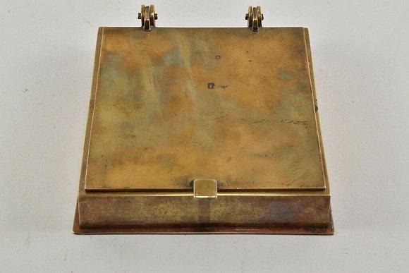 Art Deco Brass Lidded Box