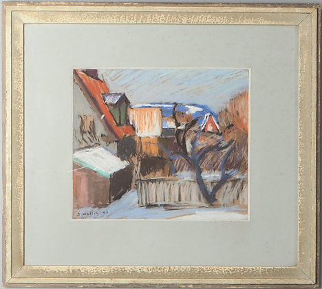 Signed Pastel by Sam Wallin, 1947