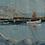 Thumbnail: Framed Oil, Fishing Port, 1950s