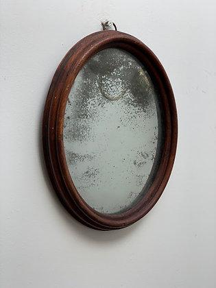 Victorian Mahogany Oval, Foxed Glass