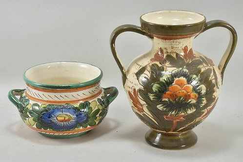Set of Two Handmade German Vases