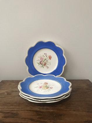 Four Victorian Plates