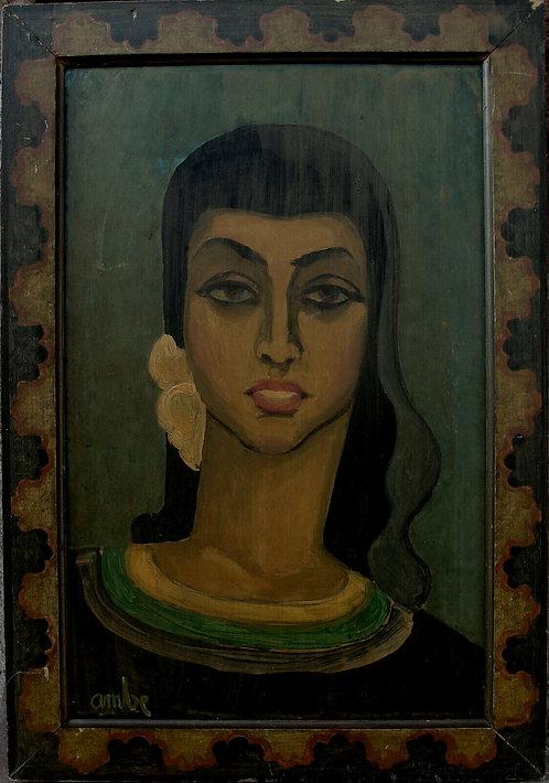 Gustaf Ambe 1895-1972 , young Spaniard, gouache, c. 1940