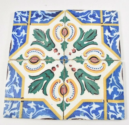Set of Four Late 19th Century Tiles