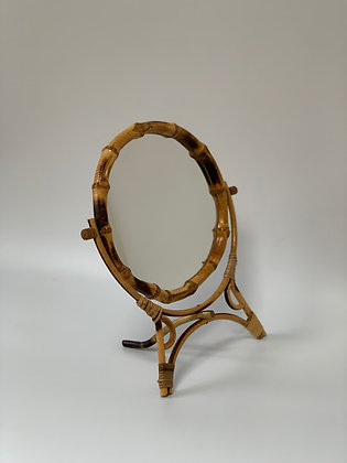Vintage Cane Mirror, Dressing Table
