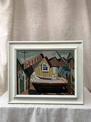 Harbour Scene by Alf Lindbom