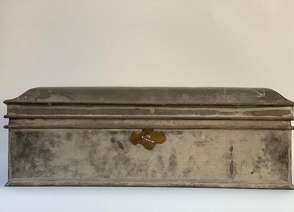 Large Tin Box With Key, German