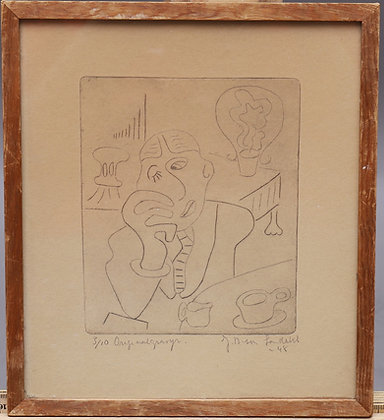 Original engraving, signed & numbered by Carl Jean B:son Sandahl