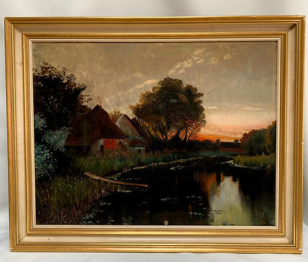 Framed Oil Painting, 20th Century, German
