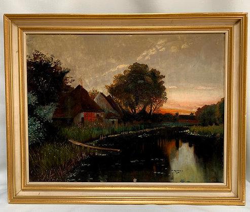 Framed Oil Painting, 20th Century, German