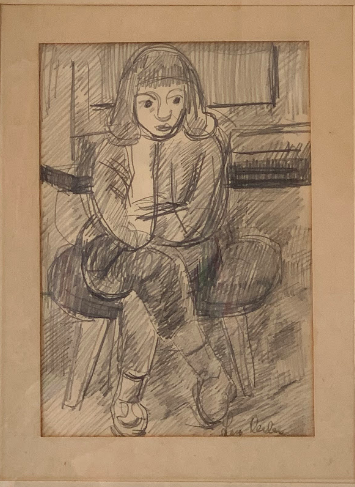 Woman In A Chair byLars Herder