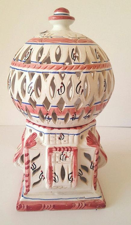 Lovely hand-painted Spanish ceramic lantern