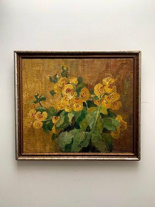 Eline Hertz-Jespersen 1879-1958, still life with flowers, around 1930