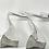 Thumbnail: A Pair  of 'Swan' Aluminum Candlesticks by Matthew Hilton, 1980s.