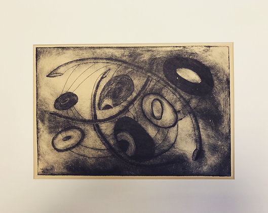 Vintage Abstract Etching - AB Povey