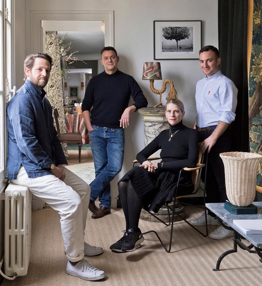 Wayne Pate (left) with Atelier Vime's Benoit Rauzy, Raphaëlle Hanley and Anthony Watson