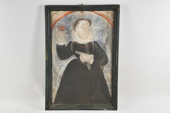 Framed Portrait of a Lady, 17th century