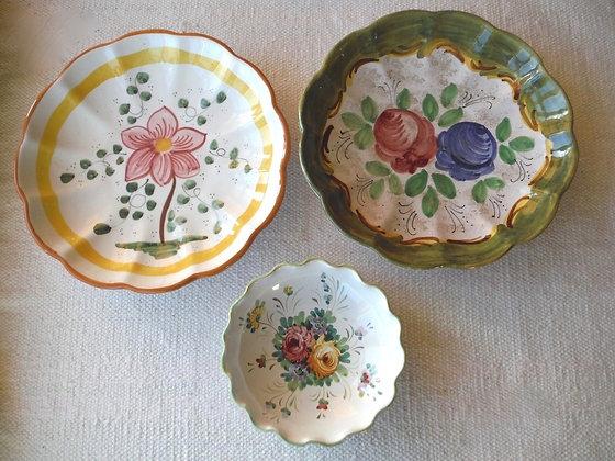Three Deruta Decorative Plates