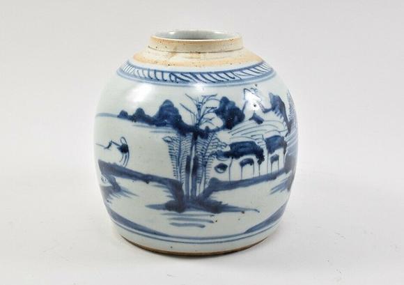 Asian Porcelain Vase, Hand Painted