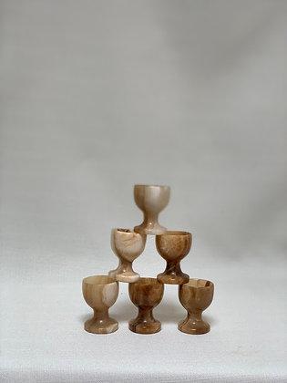Set of Six Onyx Egg Cups