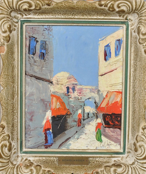 Framed Oil by Charles Schölander