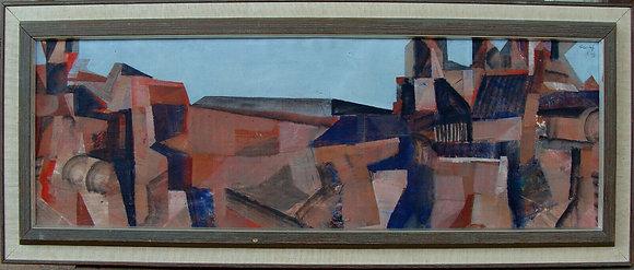 Hans Fritzdorf 1927-1990, city composition, around 1960