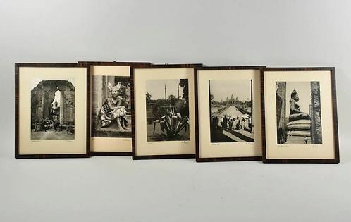 Set of Five Framed Photo, 1970s