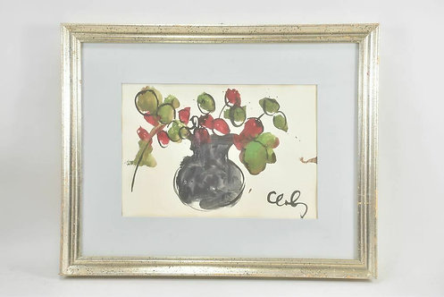 Framed Watercolour, Signed