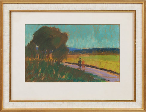 Framed Pastel by Ragnar Falk