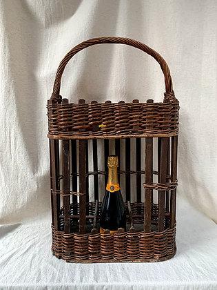 Vintage French Wine Basket