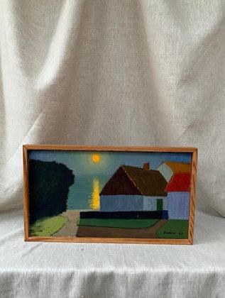Framed Oil, Unknown Artist, 1968