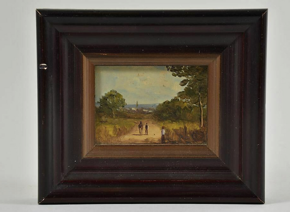 Miniature Oil Painting, Landscape, Early 20th Century