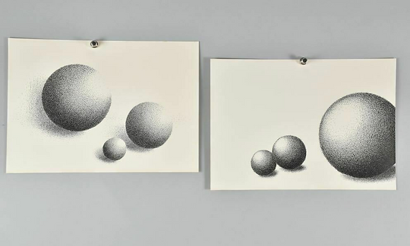 A Set of Two Prints, Spheres