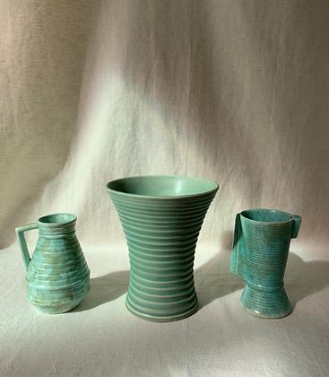 Set of Three Art Deco Vases
