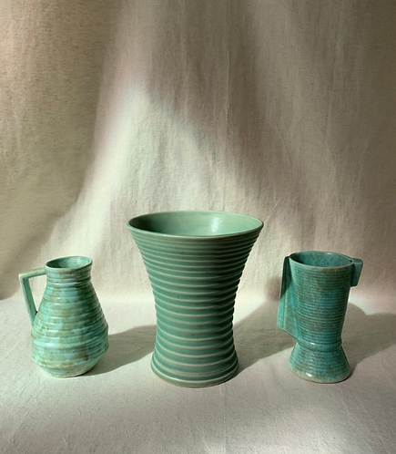 Set of Three Art Deco Vases