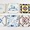 Thumbnail: Set of Six Antique 19th Century Tiles