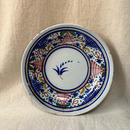 Antique Faience 19th Century Dish