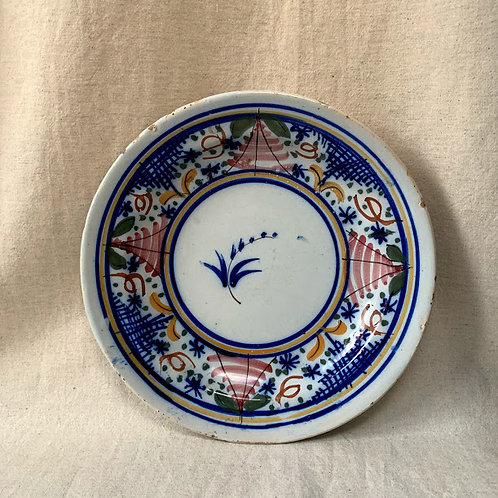 Antique Faience 19th Century Dish
