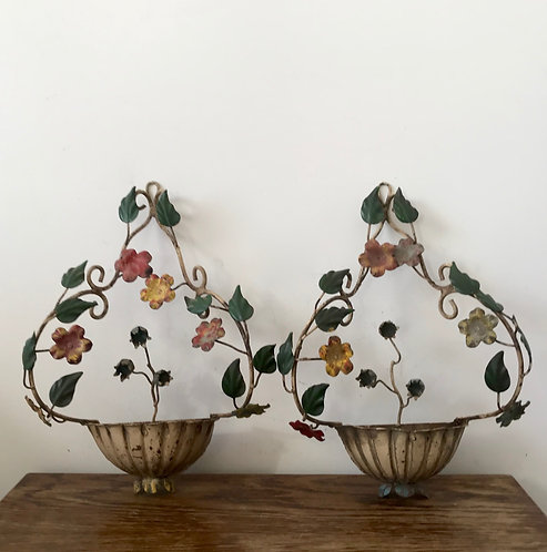 Pair of Italian Tole Sconces