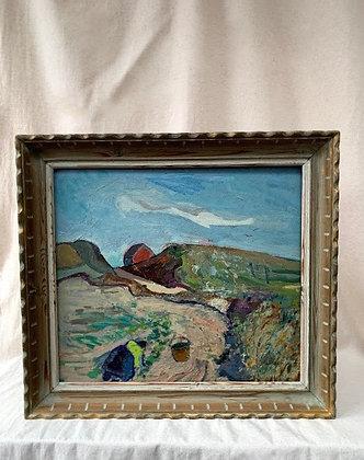 'Landscape With Working Women', by Gustav Arne