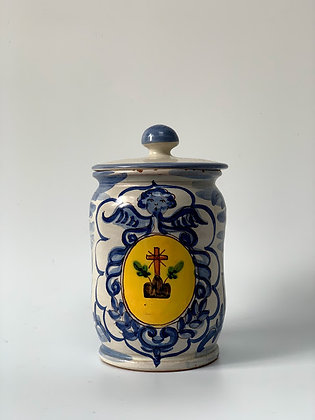 Hand Painted Italian Jar
