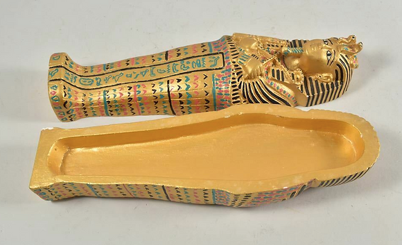 Small Stucco Replica, Sarcophagus, Painted