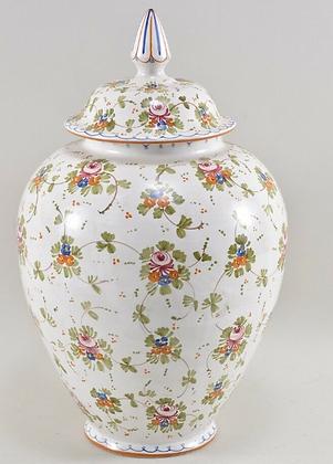 Ceramic Lidded Vase, by Castelli Di Stefano