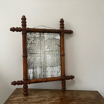 1940s Faux Bamboo Foxed Glass