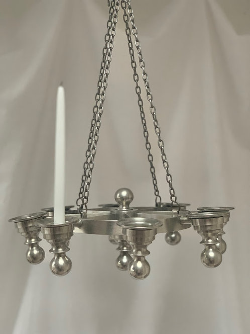 Pewter Chandelier, 1970s